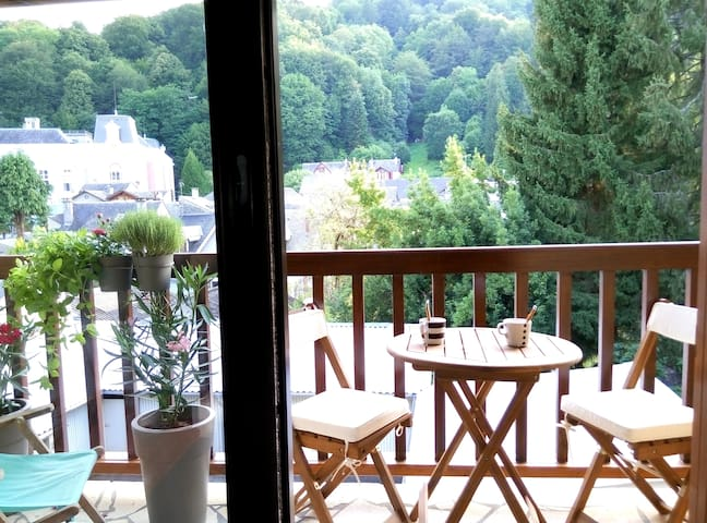 T1bis tout confort centre ville  Balcon vue jardin - Bagnères-de-Bigorre - Appartement