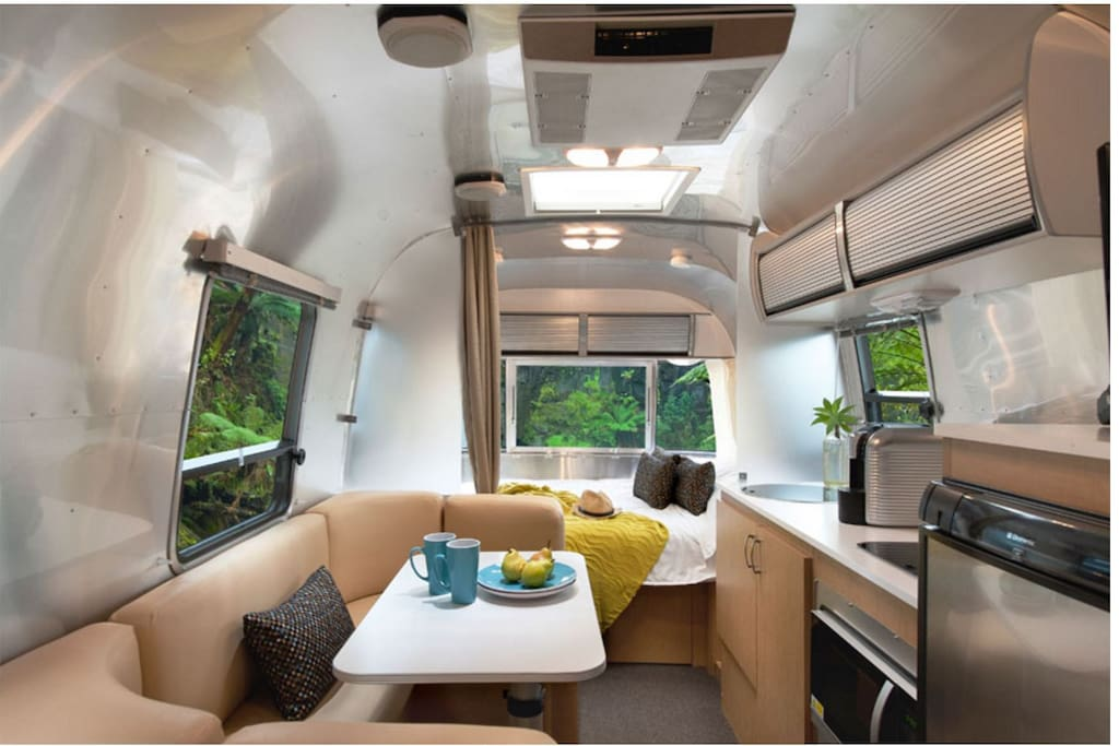 The interior of the AirStream.