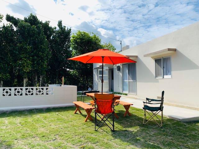 1 minute walk to sandy beach! New independet villa