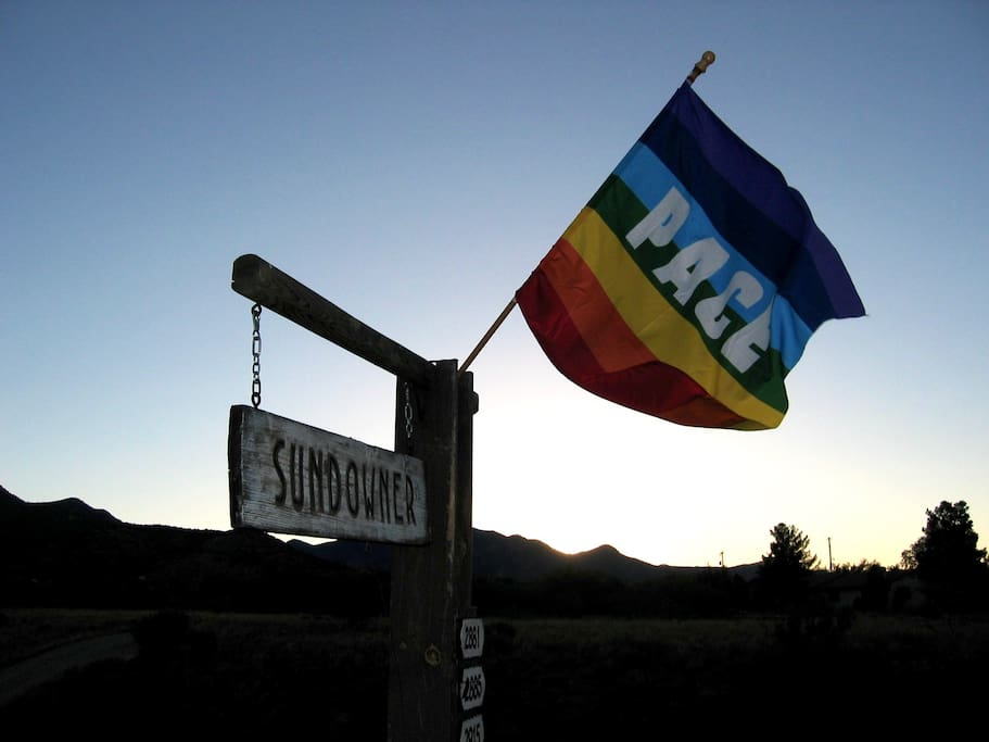 Entrance to The Sundowner Compound   (PACE flag)