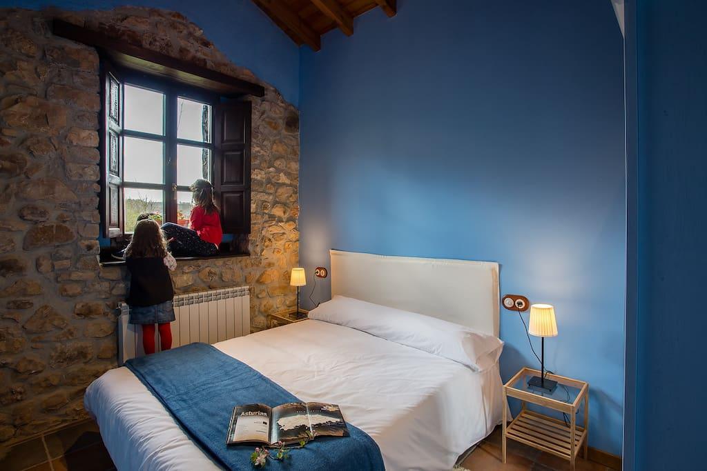Habitación Azul cama 1.50