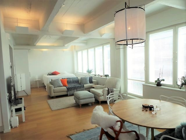 Local living-Beautiful Nordic style loft apartment