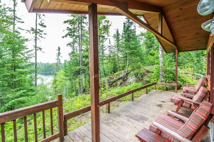 Christine`s Hideaway, with access to the BWCA, is a lovely and cozy cabin on Poplar Lake near the Gunflint Trail.