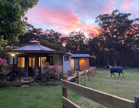 Ionaforest Yurt and Bespoke Luxe Shepherds Hut