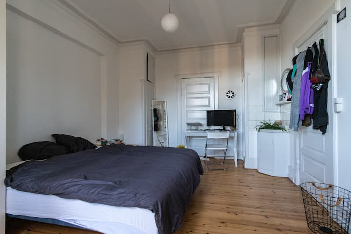 Big, bright and cozy room in huge apartment