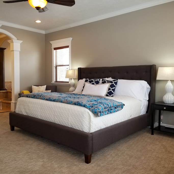 "Master Bedroom with King size bed. Come see why we call it the ""West Wing"""