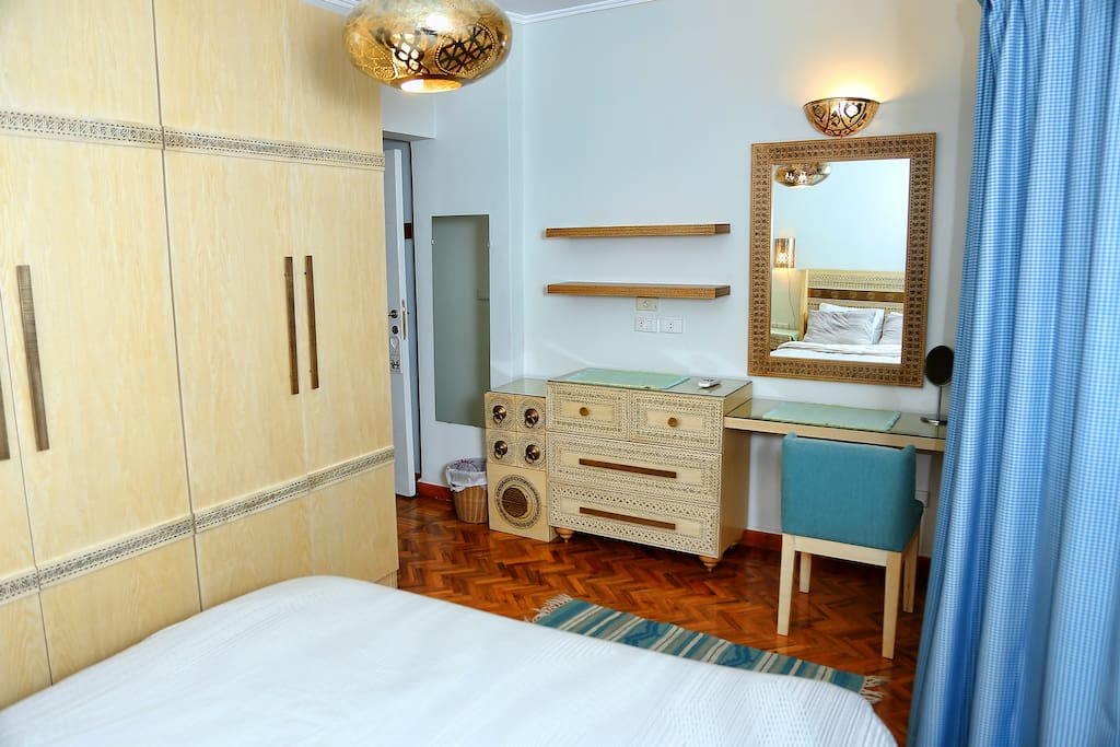 Main Bedroom: with a hint of turquoise color