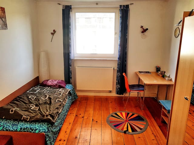 Comfortable room near city, train station & river