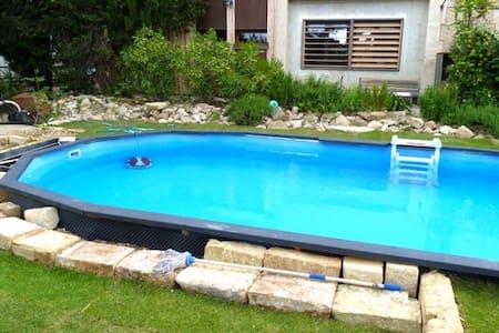 Maison ancienne rénovée avec piscine pour 6p - Gignac - 独立屋