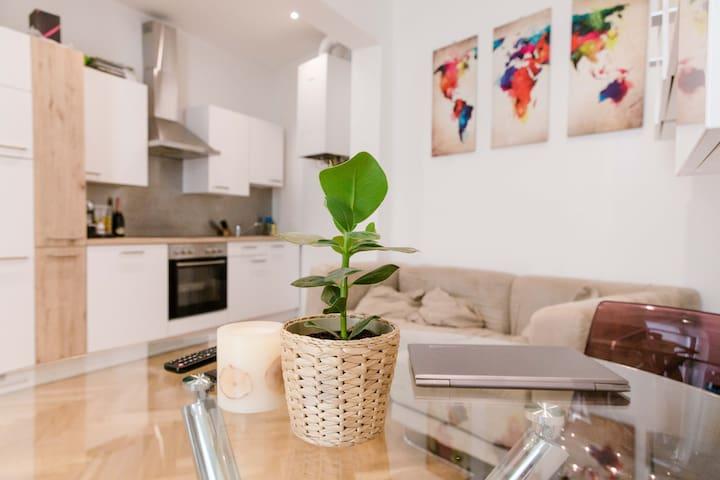 Liebevoll, helle & moderne eingerichtete Wohnung