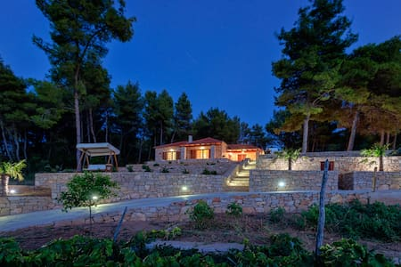 Hvar island villa with private pool