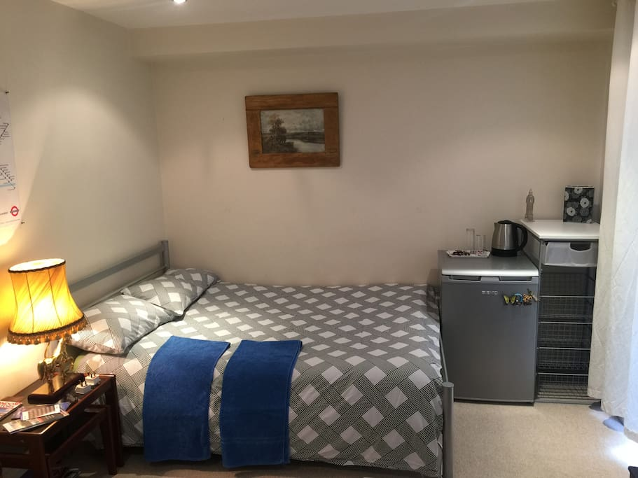 spacious room with double bed+ 2 more single beds