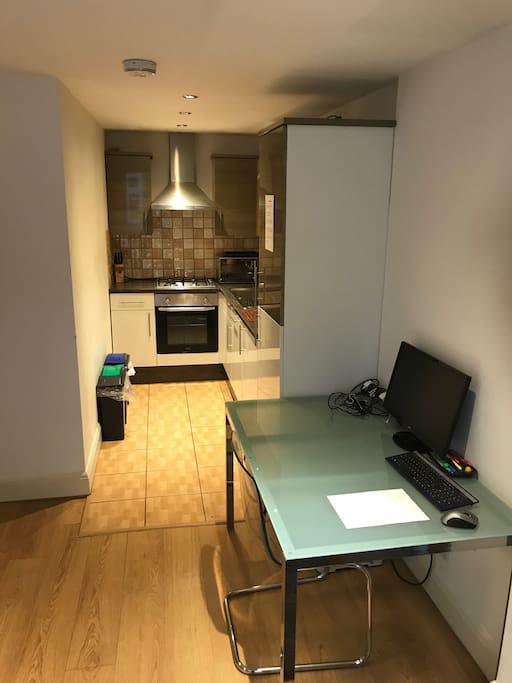 Kitchen and work area