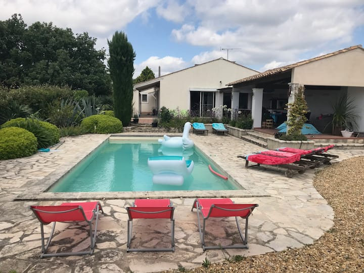 Large house with private pool  in Margon Languedoc