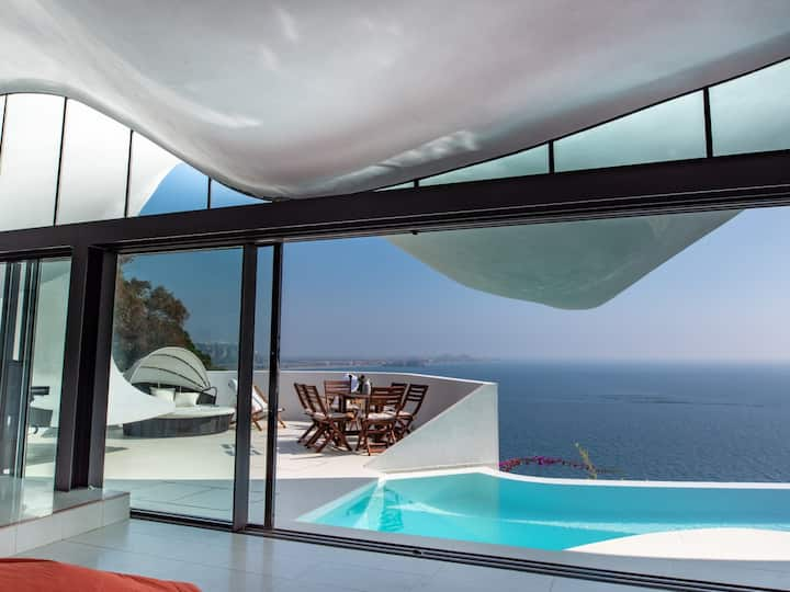 Luxury property with heated pool and unique design