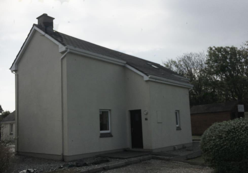 Front door of the house