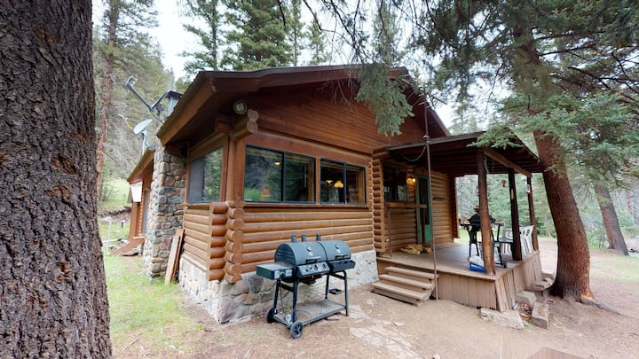 Bear Bait - Cozy Log Cabin in the Woods, Private Fire Pit and Picnic Area by the River, WIFI