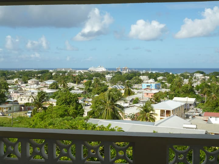Comfy private room near city, Embassy, UWI. VIEW!!