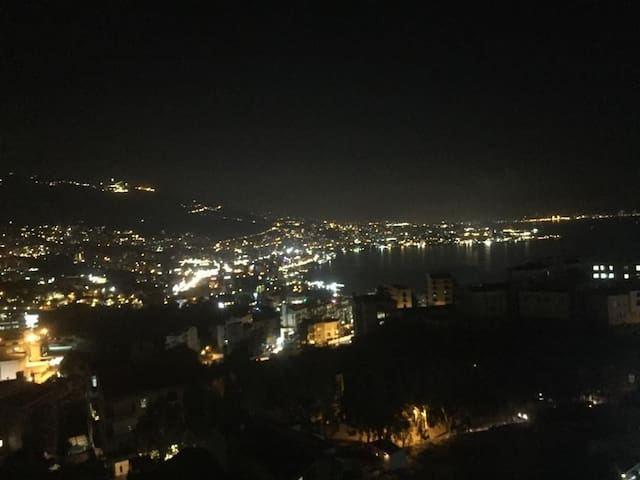 View of jounieh including the sea and the casino