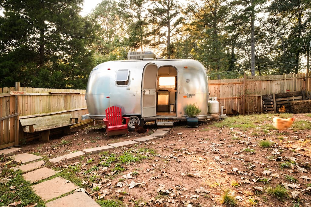 Welcome to Petunia, a beautifully, renovated 1969 Airstream Caravel