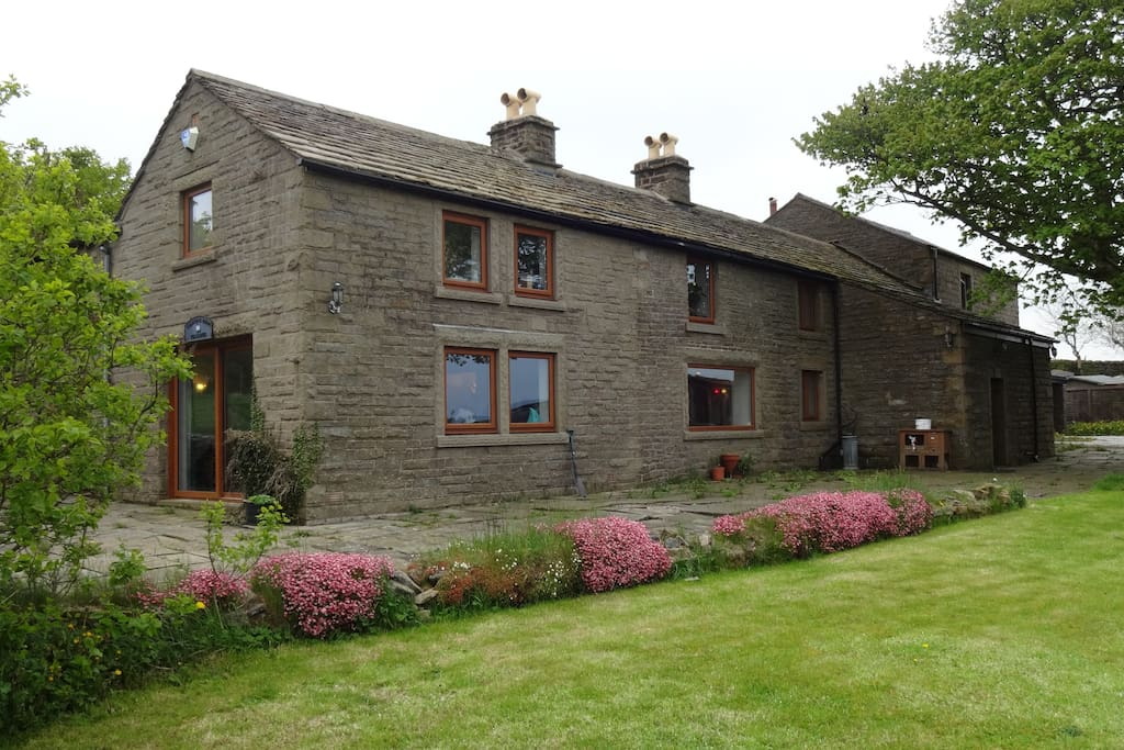 Our home, perfectly placed for exploring the Peak District
