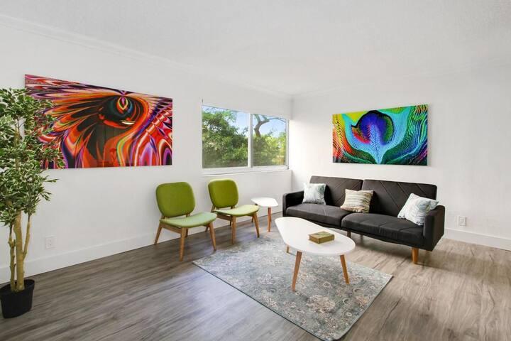 Vibrant 1BR in Coconut Grove - Miami - Apartamento