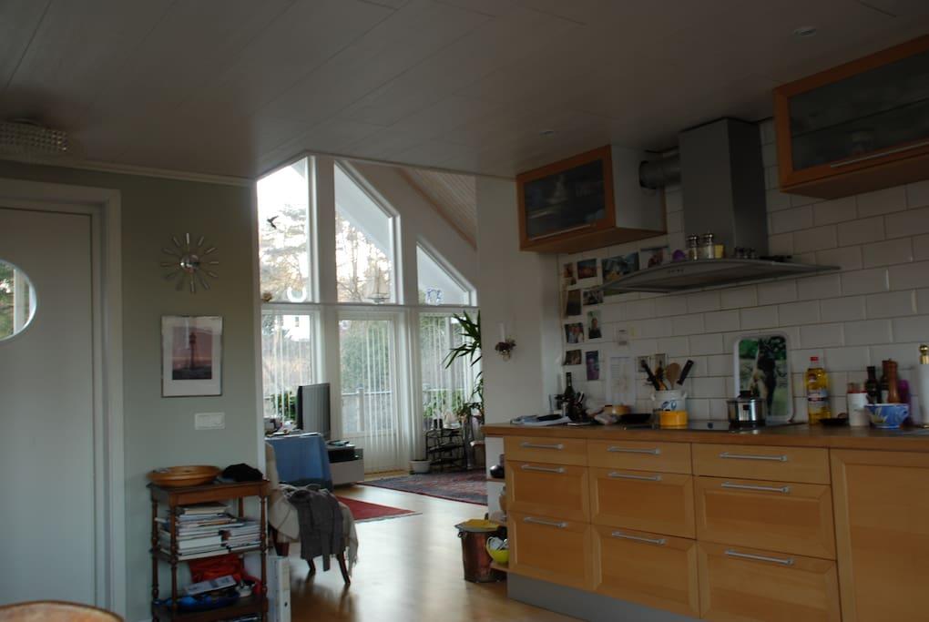 Kök - Vardagsrum. Kitchen - Livingroom