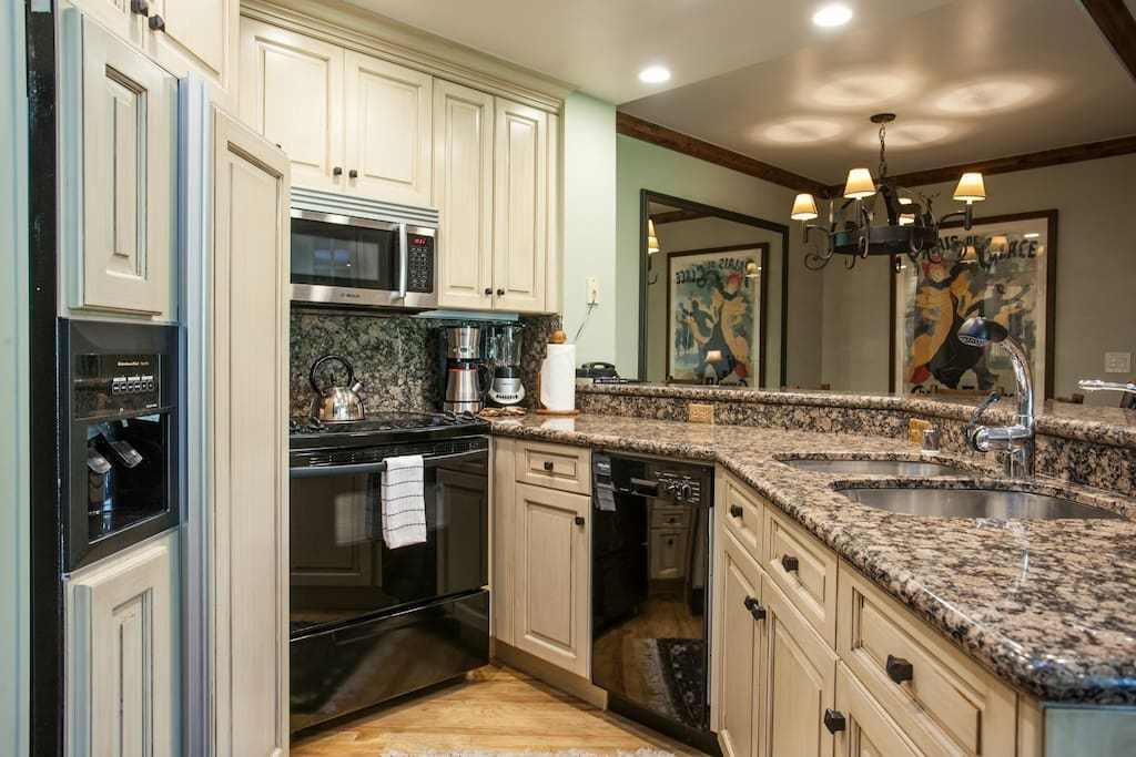 Kitchen includes all appliances and cooking accessories to create a wonderful meal.