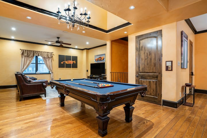 Living Room area with pool table