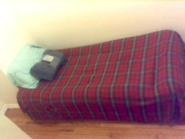 Guest bedroom-- twin bed, sheets, pillows, blanket, and towels included! :)