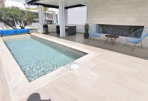 Rec con roof garden, asador, terrazas y alberca :)