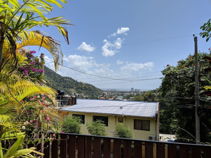 Relaxing Maraval retreat with views of the city