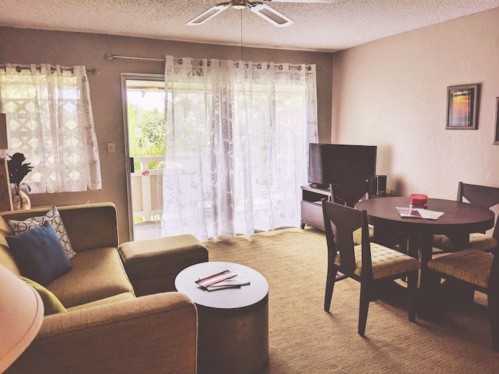 Bright and airy 1 br @ Plantation w/AC!