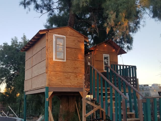 Cute treehouse with balcony