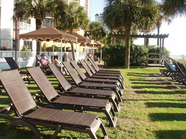 lounge by the pool or between the pool and ocean or in the shade under a cabana.