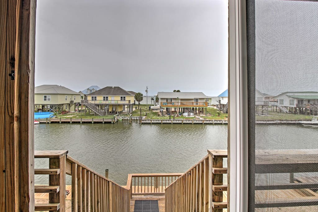 Located right on the canal, the home provides easy access to water activities.