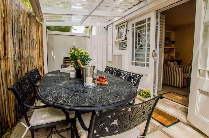 Garden suite private garden patio area