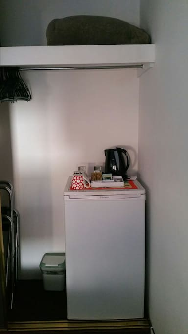 Mini fridge for our guest to feel more comfortable and private!