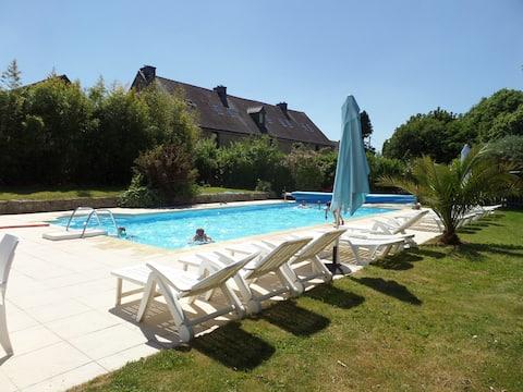 Keranmeriet B, heated pool, beaches 15 mins drive
