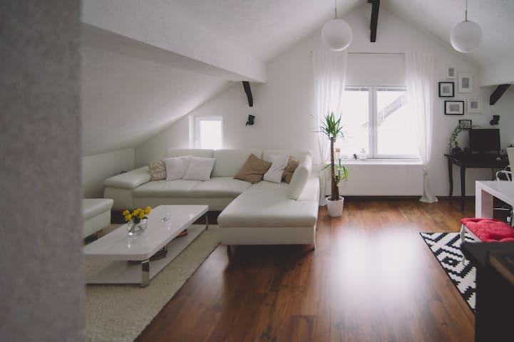 Liebevoll eingerichtete Dachgeschoss Wohnung 70m²