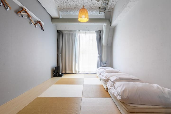 [Japanese style room] 9mins from JRShinjuku Sta. Central East Gate on foot! FreeWiFi