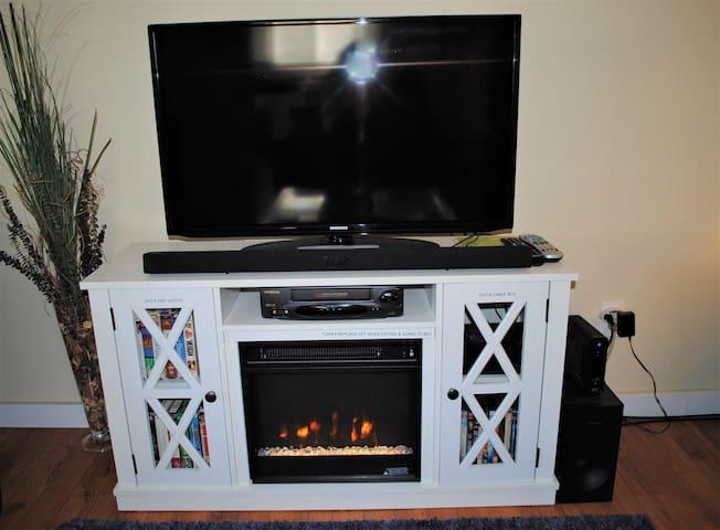 Fireplace to keep you warm.