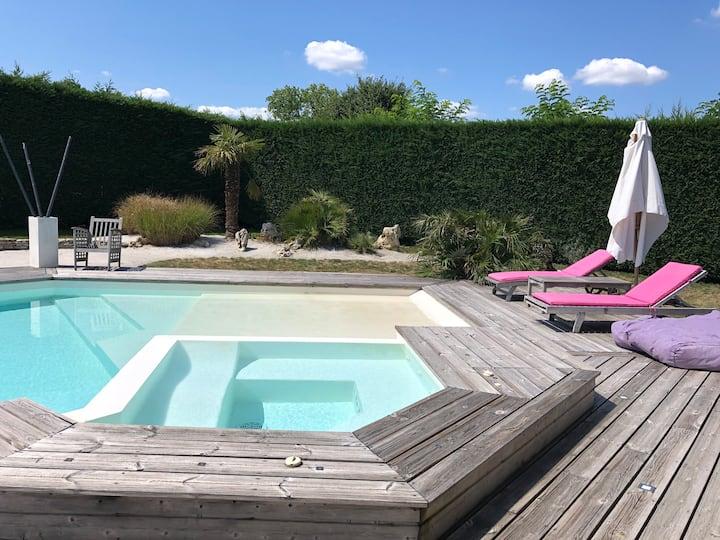 T2 indpdt dans maison avec piscine près bordeaux