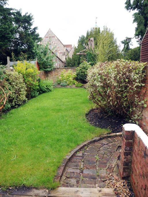 Delightful private walled garden to enjoy