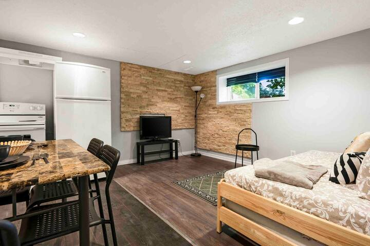private basement suite in spanish style villa