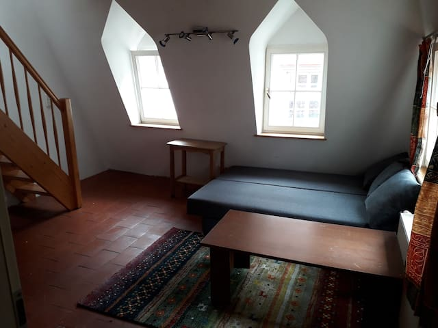Treppenaufgang zum oberen Zimmer