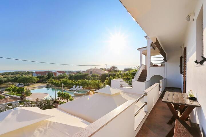 Two Bedroom Apartment, in Vir - island Vir, Outdoor pool, Terrace