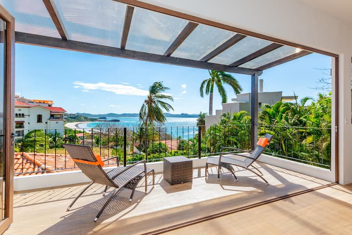 Luxury ocean-view Flamingo home with pool - upstairs apartment and party deck