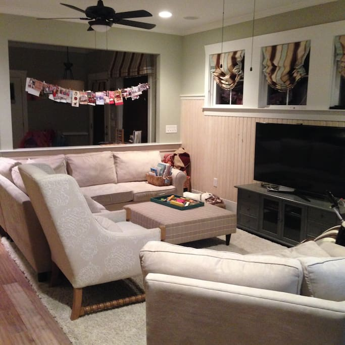 Family Room- smart TV with Netflix/Amazon Prime, DVD player.