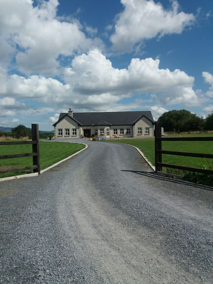 Our home, at the end of a quiet cul de sac, only 3 km from the picturesque town of Graignamanagh.